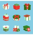 Gift box icons set vector