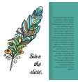 Feather painted in the style ornament vector