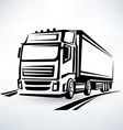 European truck outlined symbol vector