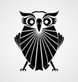 Black owl bird vector