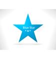 Blue abstract star shape vector