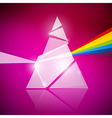 Prism spectrum on pink background vector