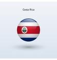 Costa rica round flag vector
