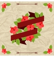 Tropical background with stylized hibiscus flowers vector