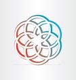 Geometric star symbol design vector