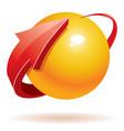 3d sphere and arrow vector