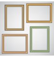 Set of realistic plastic portrait frames on the vector