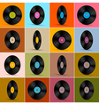 Retro vintage vinyl record disc background vector