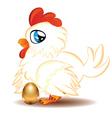 Hen with golden egg2 vector