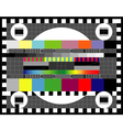 Test tv screen vector