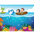 Cartoon tropical scene vector