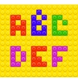Lego blocks alphabet 1 vector