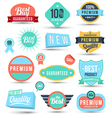 Badges tag label sticker colour set vector