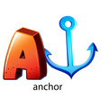 A letter a for anchor vector