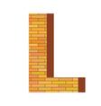 Brick letter l vector
