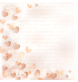 Background with beige hearts vector