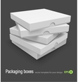 Pizza boxes vector
