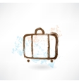 Luggage grunge icon vector