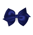 Isolated blue photorealistic silk bow for your vector