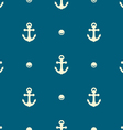 Anchor and pearl pattern vector