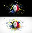 Maxico flag with soccer ball dash on colorful vector