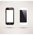 White and black touchscreen smartphone flat design vector