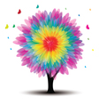 Tree with flower vector