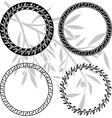 Ancient hellenic patterns in rings vector