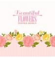 Rose frame invitation card vector