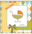 Baby shower card with stroller vector