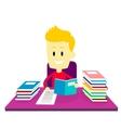 Boy studying doing his homework vector