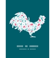 Abstract colorful drops rooster silhouette vector