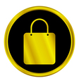 Shopping bag sign button vector