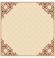 Quadratic background with ornament in corners vector