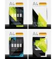 Abstract flyer - brochure templates set vector