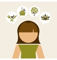 Woman vegetarian design vector