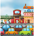 Cars and kids vector