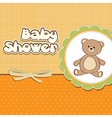Baby shower card with teddy vector