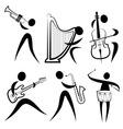 Musician symbol vector