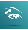 With beautiful female eyes with different makeup vector