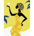 African girl silhouette vector