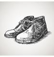 Sketched vintage desert boots vector