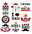 Happy fathers day vintage retro type font vector