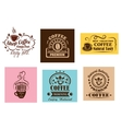 Creative coffee label graphic designs vector