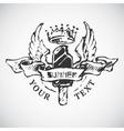 Sketched vintage summer badge vector