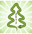 Cute snake symbol of 2013 year vector