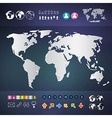 World map infographics template vector