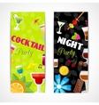 Cocktails banner vertical vector