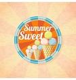 Summer sweet ice cream retro background vector