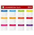 Calendar 2014 italy type 10 vector